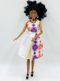 Aida Caramel Tissu Sari